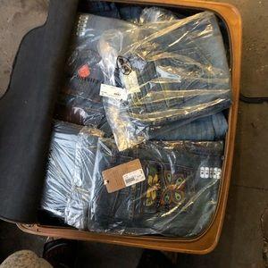 5 pairs designer jeans